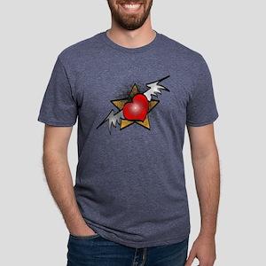 heart-star Mens Tri-blend T-Shirt