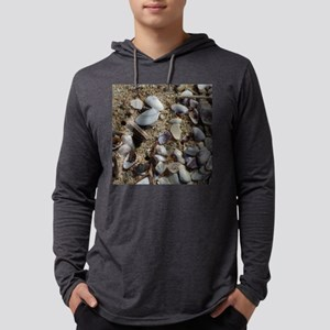 Seaside Seashells Mens Hooded Shirt