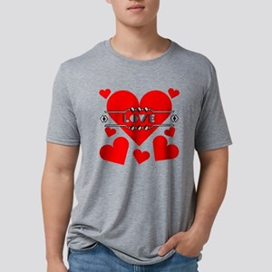 deco-love-hearts-large Mens Tri-blend T-Shirt