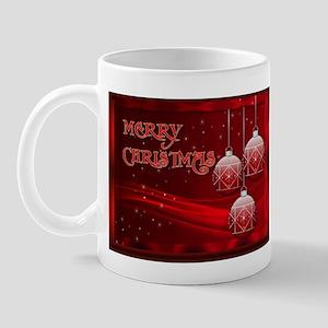 Merry Christmas with red and silver (Mug)