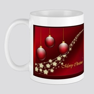 Merry Christmas with golden stars (Mug)