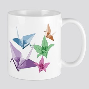 Origami composition lilies and cranes Mug
