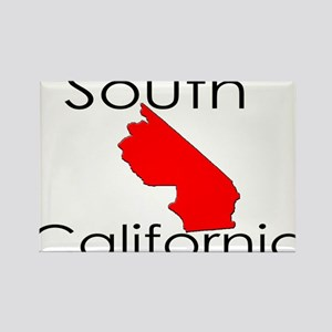 South California Red State Rectangle Magnet