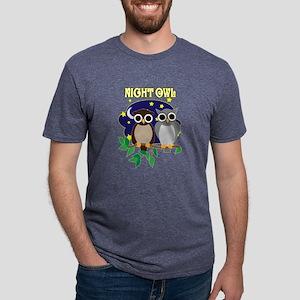 NIGHT-OWL-2 Mens Tri-blend T-Shirt