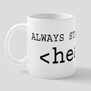 Start With Head Mug