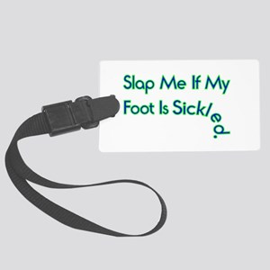 Sickled Foot Large Luggage Tag