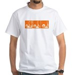 Orange Sequence: White T-Shirt