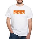 Orange Sequence: White T-Shirt