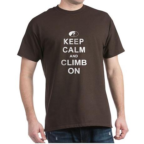 Keep Calm and Climb On Dark T-Shirt