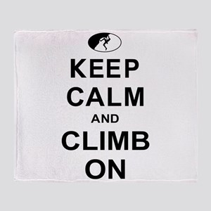 Keep Calm and Climb On Throw Blanket