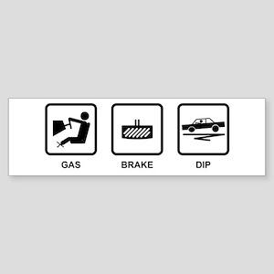 Gas Brake Dip Bumper Sticker