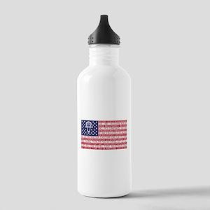 Lacrosse Defense Flag Water Bottle