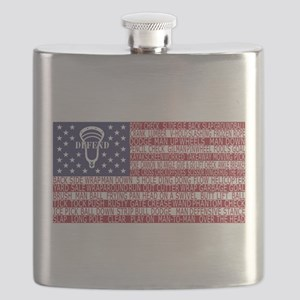Lacrosse Defense Flag Flask