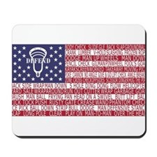 Lacrosse Defense Flag Mousepad