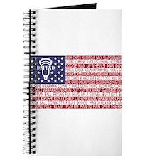 Lacrosse Defense Flag Journal