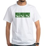 Green Sequence: White T-Shirt