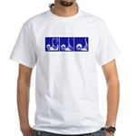 Blue Sequence: White T-Shirt