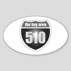 Interstate 510 Oval Sticker
