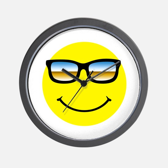 Smiley Face Glasses Wall Clock