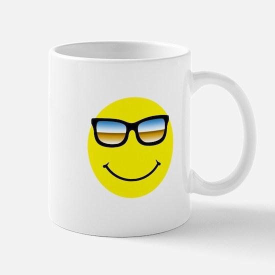 Smiley Face Glasses Mug