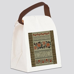 Ukrainian Embroidery Canvas Lunch Bag