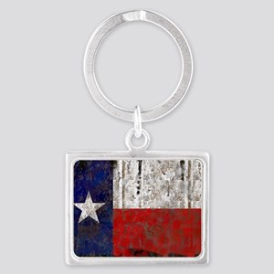 Retro Flag Of Texas Keychains