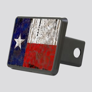 Retro Flag of Texas Hitch Cover