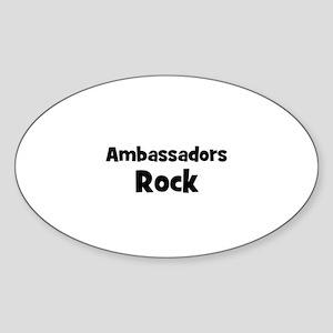 AMBASSADORS Rock Oval Sticker