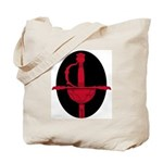 Red and Black: Tote Bag