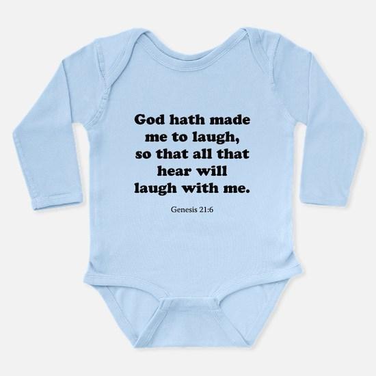 Genesis 21:6 Long Sleeve Infant Bodysuit