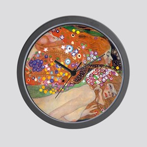 Gustav Klimt Water Serpents Wall Clock