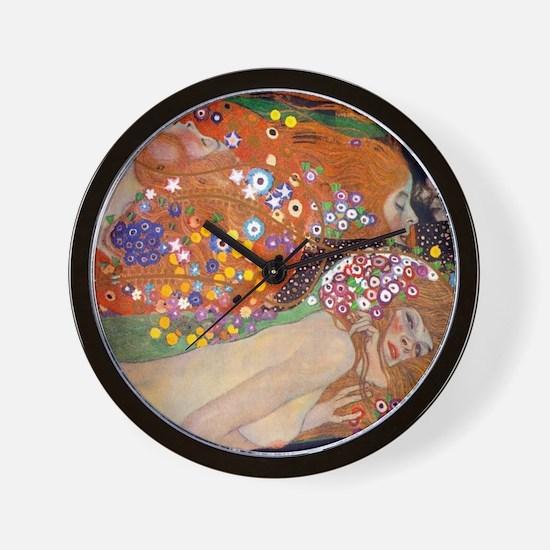Gustav Klimt Water Serpents Wall Clock