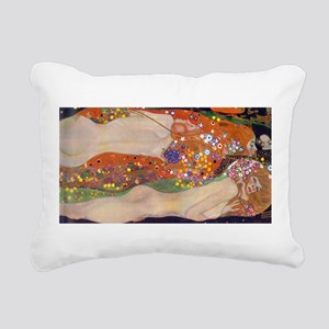 Gustav Klimt Water Serpents Rectangular Canvas Pil
