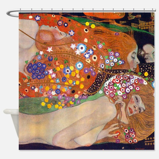 Gustav Klimt Water Serpents Shower Curtain
