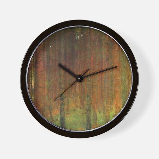 Gustav Klimt Tannenwald II Wall Clock