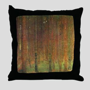 Gustav Klimt Tannenwald II Throw Pillow