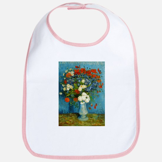 Van Gogh Cornflowers And Poppies Bib