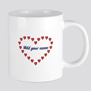 Red Hearts In A Heart 20 oz Ceramic Mega Mug