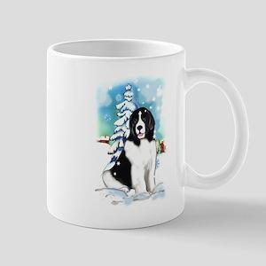 Winter scene with Newf Mug