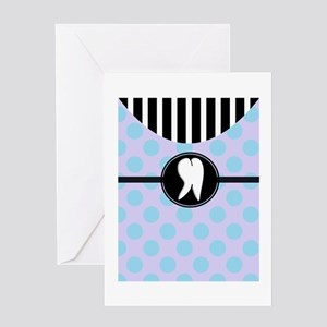 Hygienst tooth blue polka dots Greeting Card