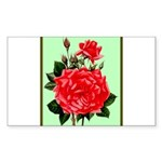 Red, Red Roses Vintage P Sticker (Rectangle 50 pk)