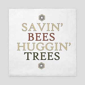 save the bees honey love Queen Duvet