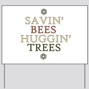save the bees honey love Yard Sign