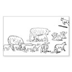 Lots of Lambs Sticker (Rectangle 50 pk)