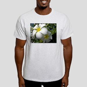 Tiare Flowers Ash Grey T-Shirt