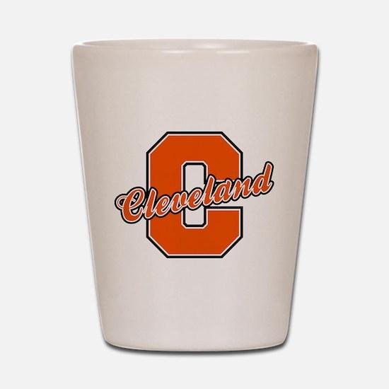Cleveland Letter Shot Glass