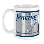 Fencing Blue Stripe Mug