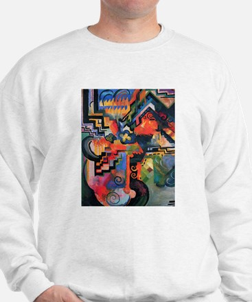 August Macke Colored Composition Sweatshirt