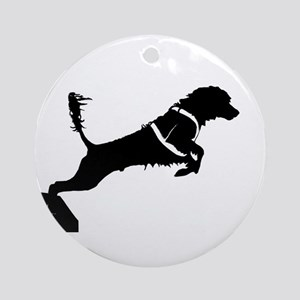 Portuguese Water Dog Jump Ornament (Round)