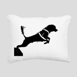 Portuguese Water Dog Jump Rectangular Canvas Pillo
